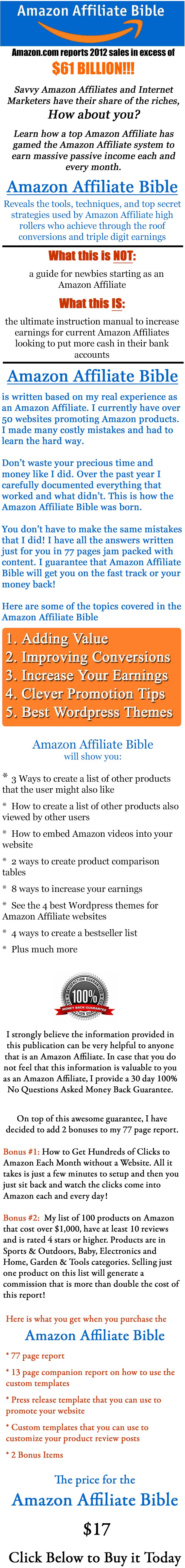 Amazon Affiliate Bible